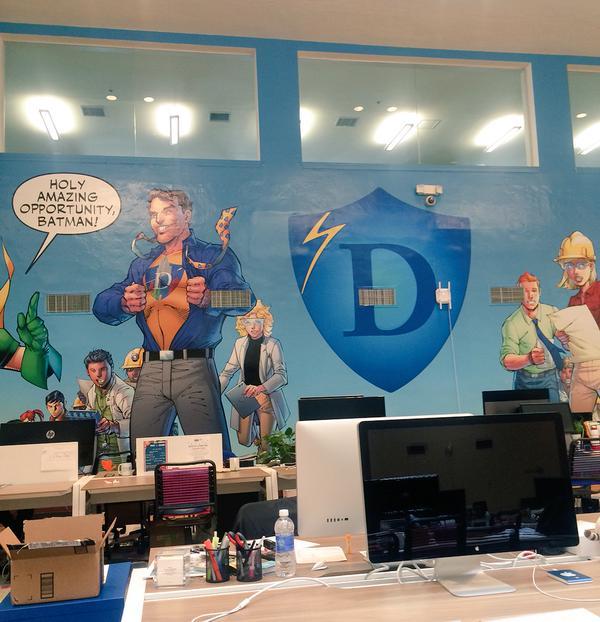 het 24/7 kantoor in Hero City