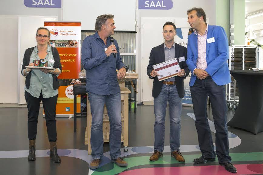Marga Hermes (Trudo Weekendschool), Hans Matheeuwsen (Frits), Stephan Hoek (Blue Note Communicatie, Marc Ruis ('t Ruist communicatie)