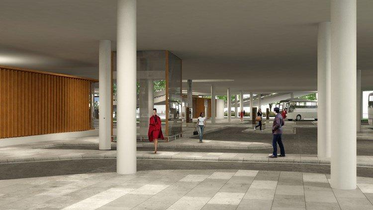 Grafische impressie OV-terminal: provincie Brabant