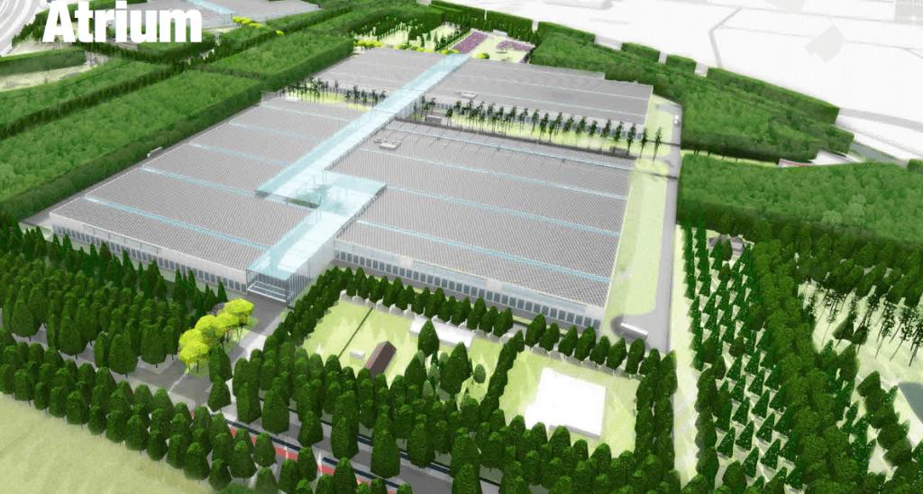 Het ontwerp Atrium voor de Brainport Industries Campus