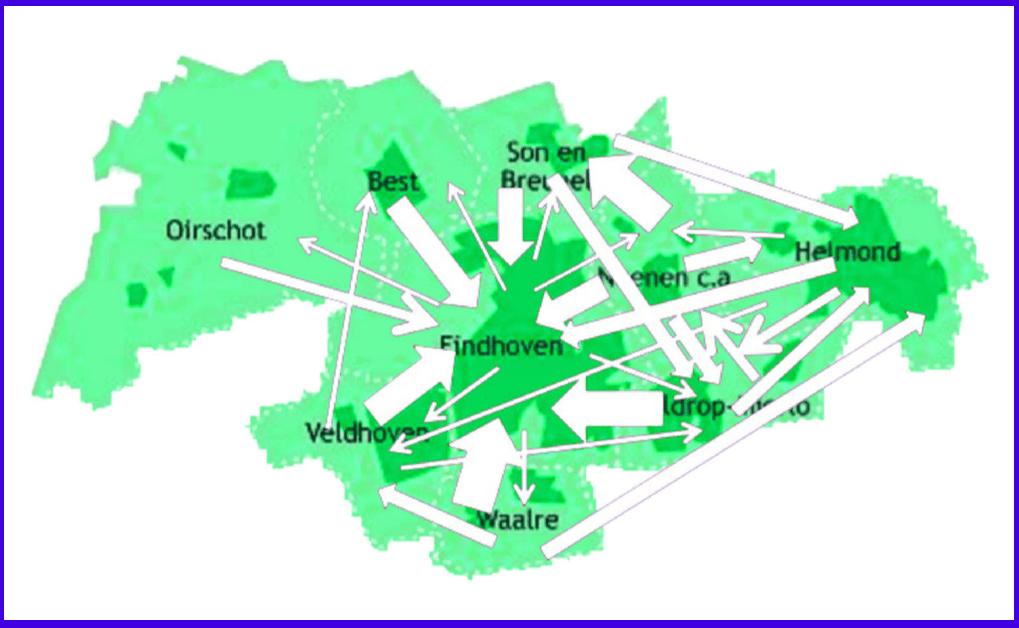 """Het """"Daily Urban System"""" in het Stedelijk Gebied Eindhoven"""