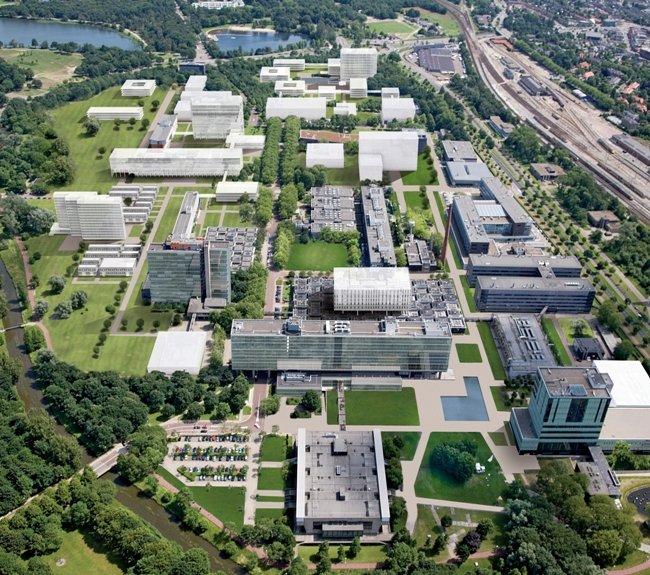 Tue TU/e TU Eindhoven luchtfoto