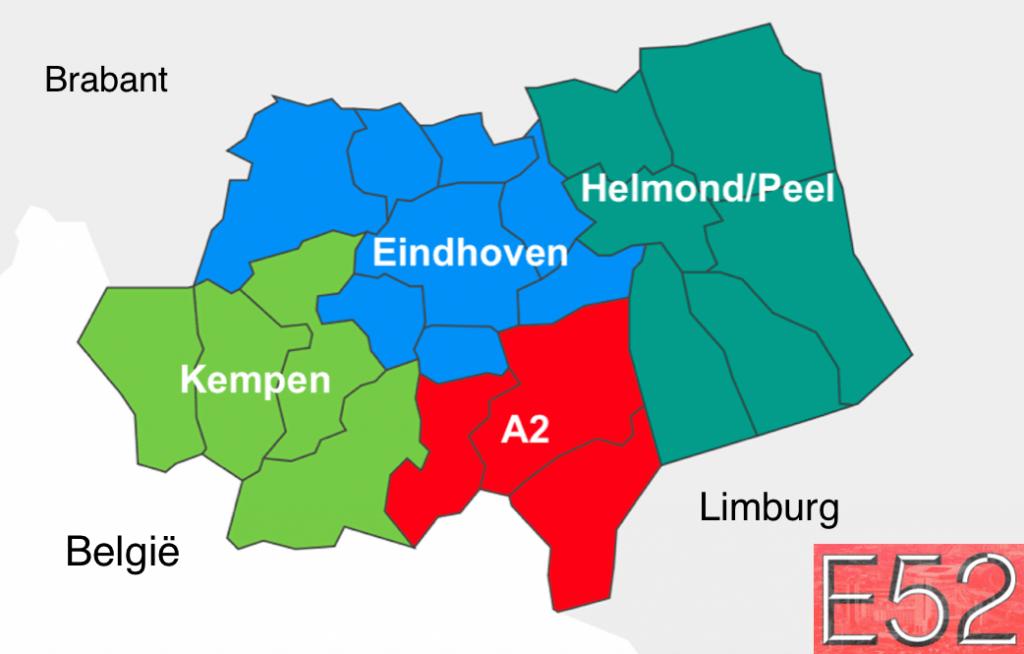Herindeling Eindhoven met namen