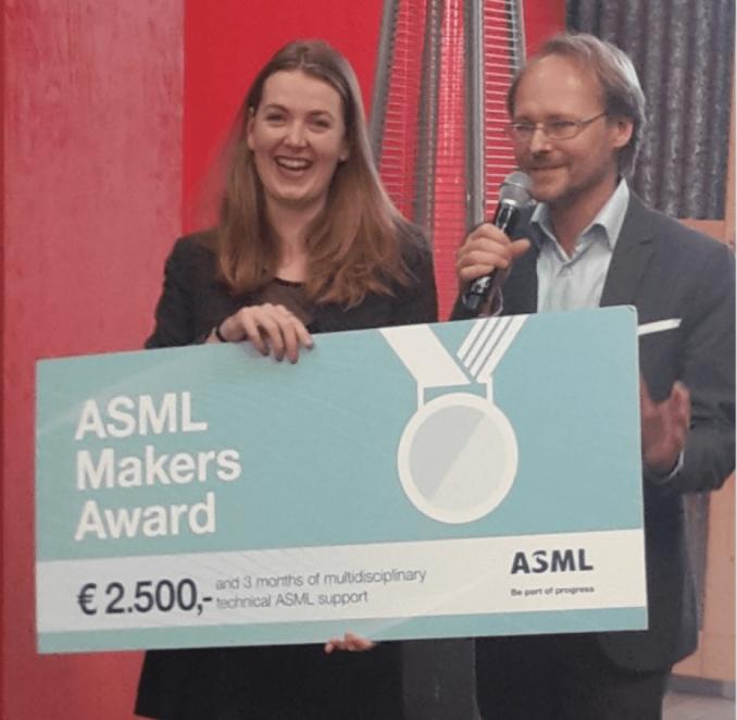 Marleen van Bergeijk wint ASML Smart Makers Award