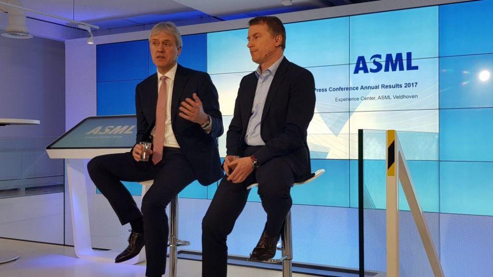 Peter Wennink en Wolfgang Nickl ASML