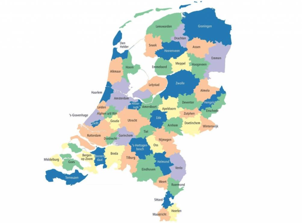 NL in 57 gemeenten - Atlas voor Nederlandse Gemeenten