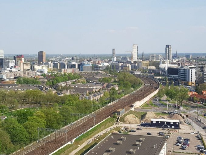 Skyline Eindhoven vanaf Strijp-S