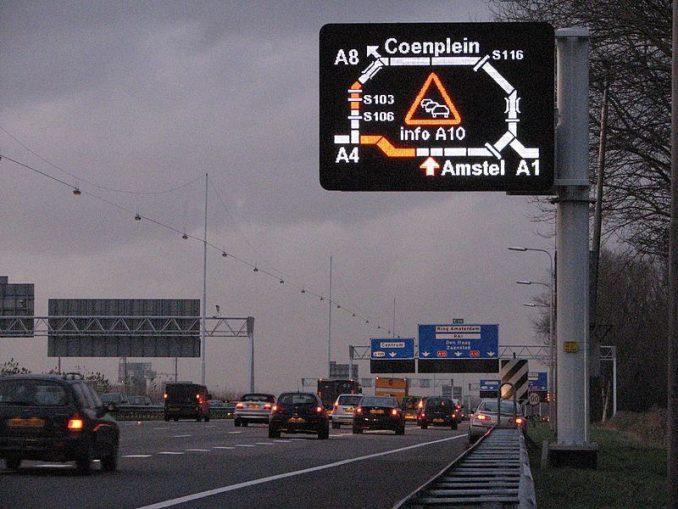 wegenbord drip signalering matrix