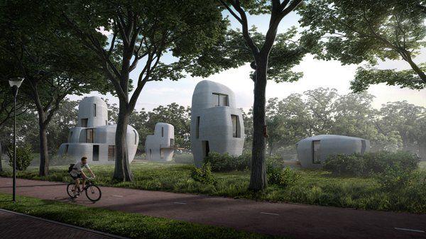 concrete beton 3D huis house