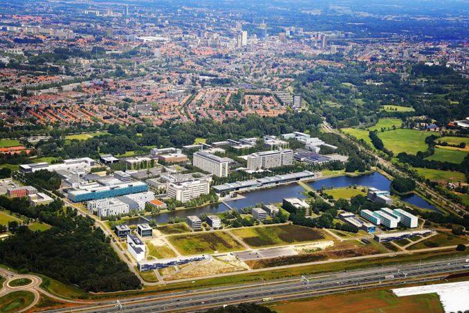 Luchtfoto High Tech Campus Eindhoven HTC