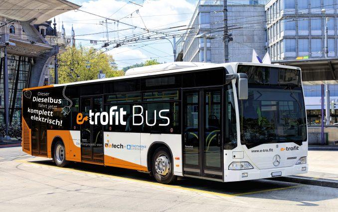Dieselbus wird zu Elektrobus-E-Trofit