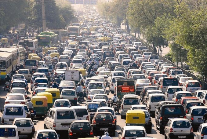 traffic jam file new delhi