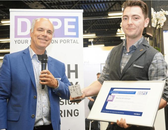 Martin Kristelijn receives DSPE Wim van der Hoek Award