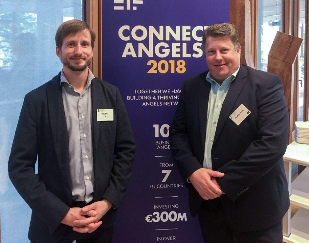 Kriss Spulis, Investment Manager bij het Europees Investeringsfonds en Arnoud de Geus, Director New Business Development bij Sioux