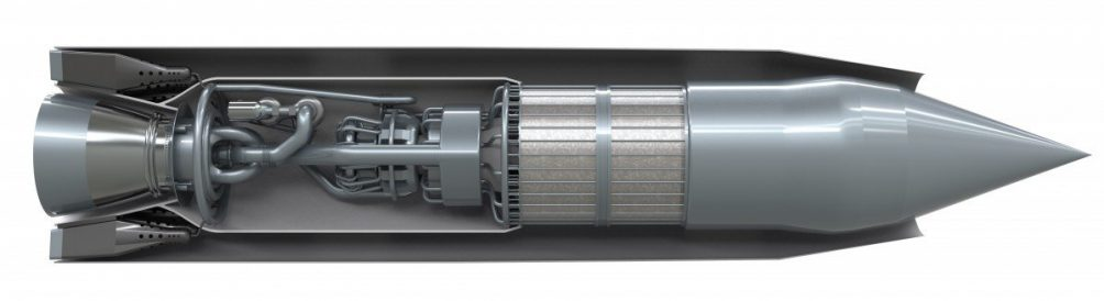 """The """"Sabre"""" engine with its interior exposed. Illustration: Reaction Engines Ltd."""