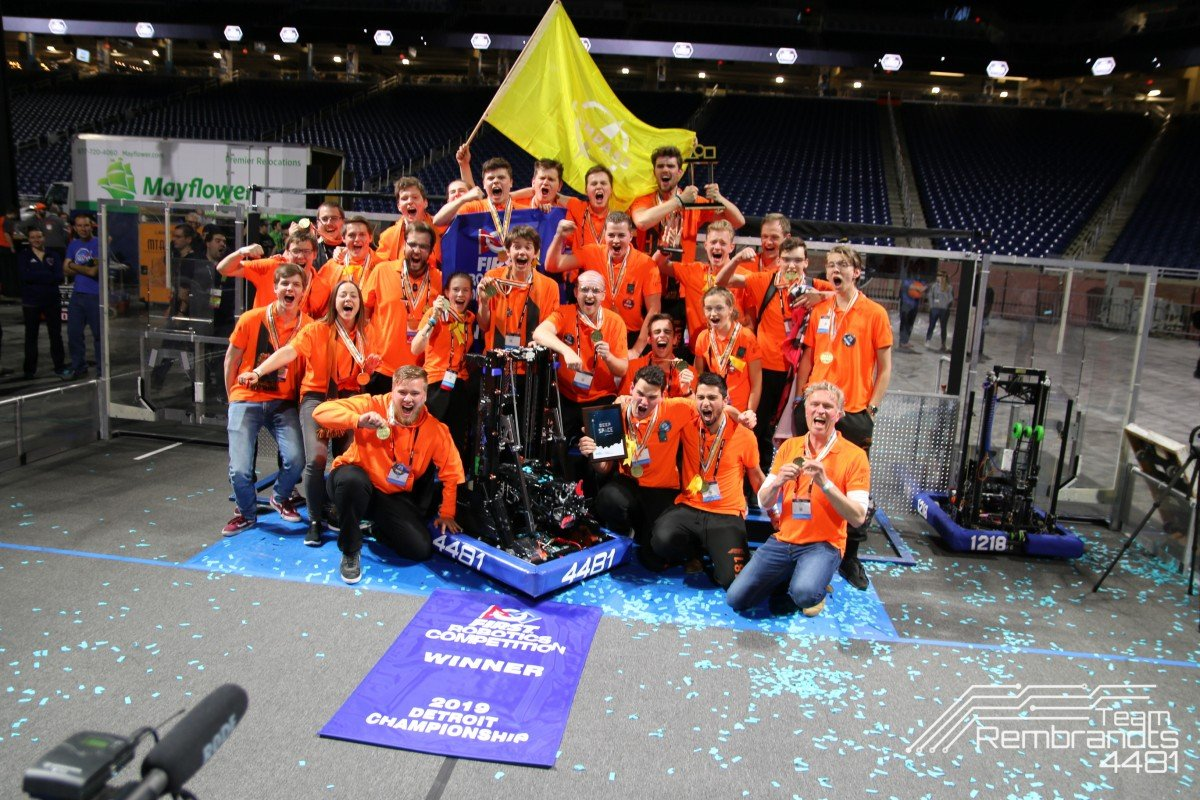Team Rembrandts pakt in Detroit wereldtitel in FIRST Robotics Competition - Innovation Origins