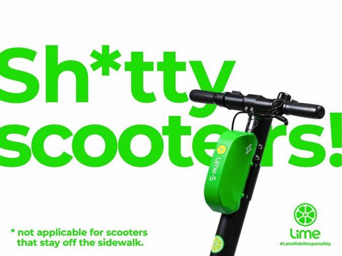 E-Roller Kampagne von Lime in Frankreich