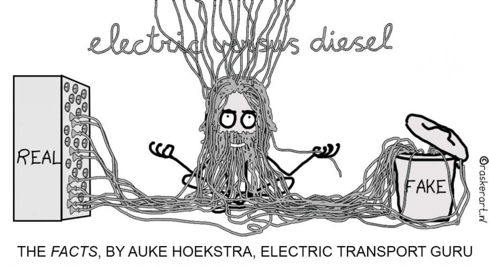 Electrisch rijden-goeroe Auke Hoekstra scheidt voor Innovation Origins feiten en fictie in het debat over mobiliteit
