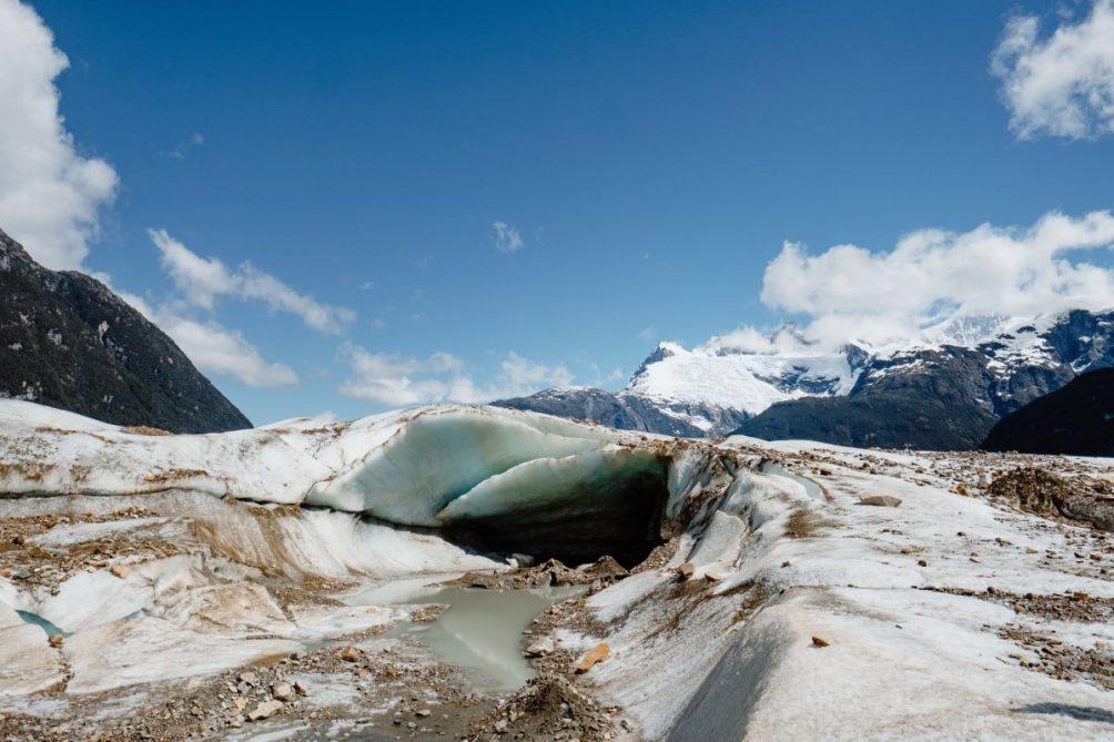 schuttbedeckter Gletscher