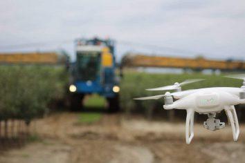Drone die wordt ingezet bij het tellen van gewassen