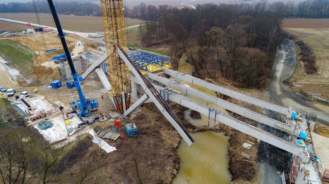 Klappkonstruktion, Brückenbautechnik