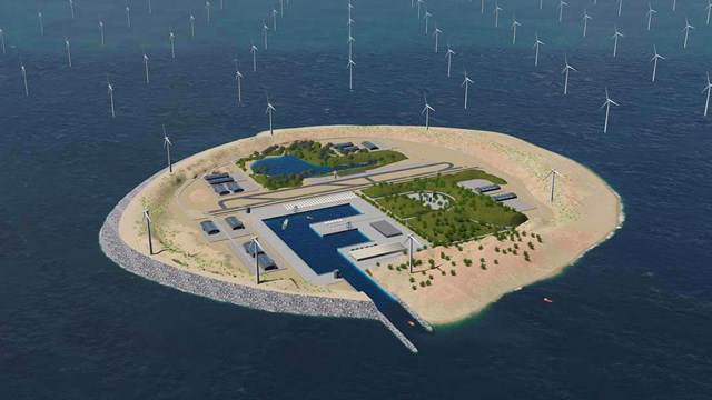 Denmark is building the world's largest wind energy island -